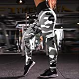 Dressin Women Workout Print Leggings Fitness Sports Gym Running Yoga Athletic PantsGrayMUnder 10 Dallars