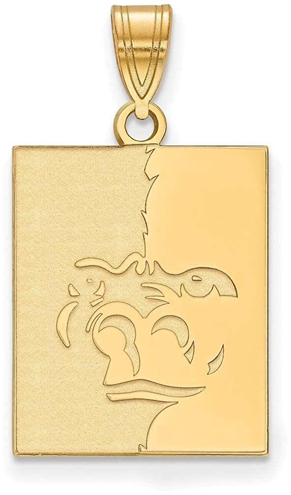 Gold-Plated Sterling Silver Pittsburg State University Large Pendant LogoArt GP004