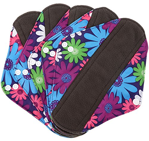 Wegreeco Bamboo Reusable Sanitary Pads - Cloth Sanitary Pads - Pack of 5