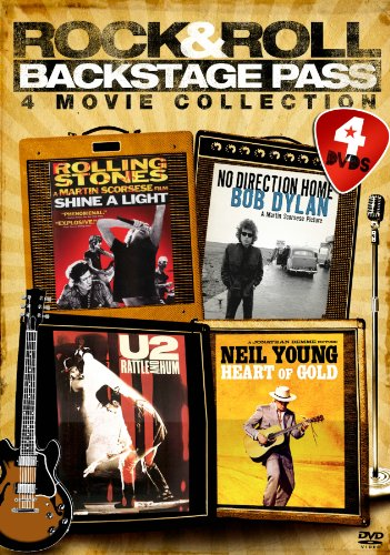 - Rock & Roll Backstage Pass: Four-Movie Collection (U2: Rattle & Hum / Bob Dylan: No Direction Home / Rolling Stones: Shine a Light / Neil Young: Heart of Gold)