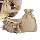 LifeKrafts Jute linen Potlis   Gift Bags for Return Gifts Bags   Pack of 10     Size 5*7 inches(12.5*17.5 cms)   Jute Linen,Burlap   Natural Jute Color  For Weddings , Functions, Parties, Baby Showers, Birthdays, Festivals or Any Occasion