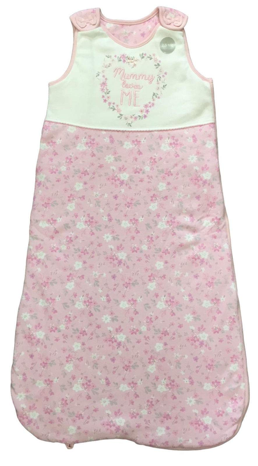 Baby Sleeping Bag Girls Boys 1 1.5 2.5 Tog Cotton Growbag Sleep Safety Blanket