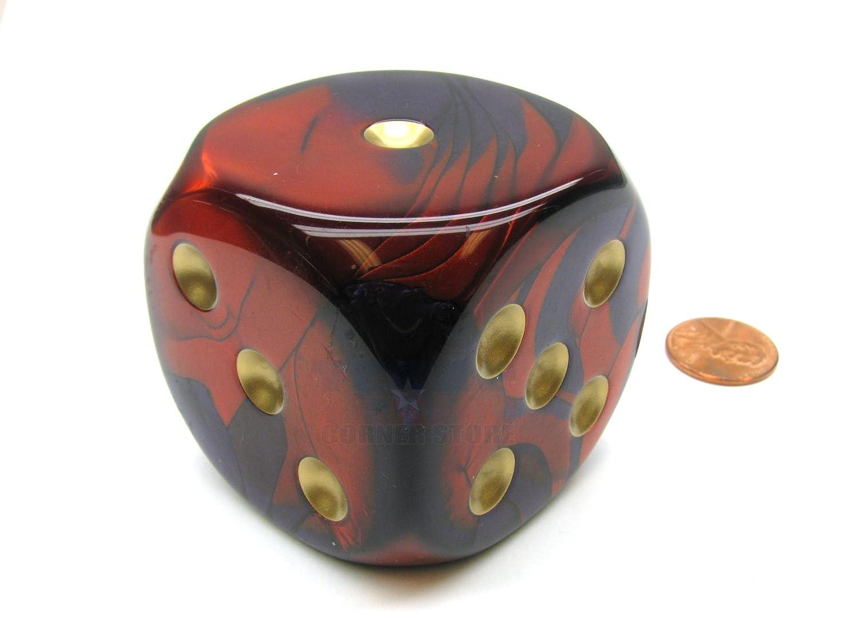 【正規通販】 Purple and Red Gemini With B00XEHKUJM Gold Pips Gold 50mm (2in) 50mm D6 Die Chessex B00XEHKUJM, 2019春の新作:46c38219 --- arianechie.dominiotemporario.com