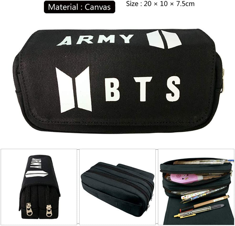 Fernando Guapo KPOP BTS Bangtan Boys - Estuche para lápices (tamaño Grande), diseño con Texto en inglés: Amazon.es: Hogar