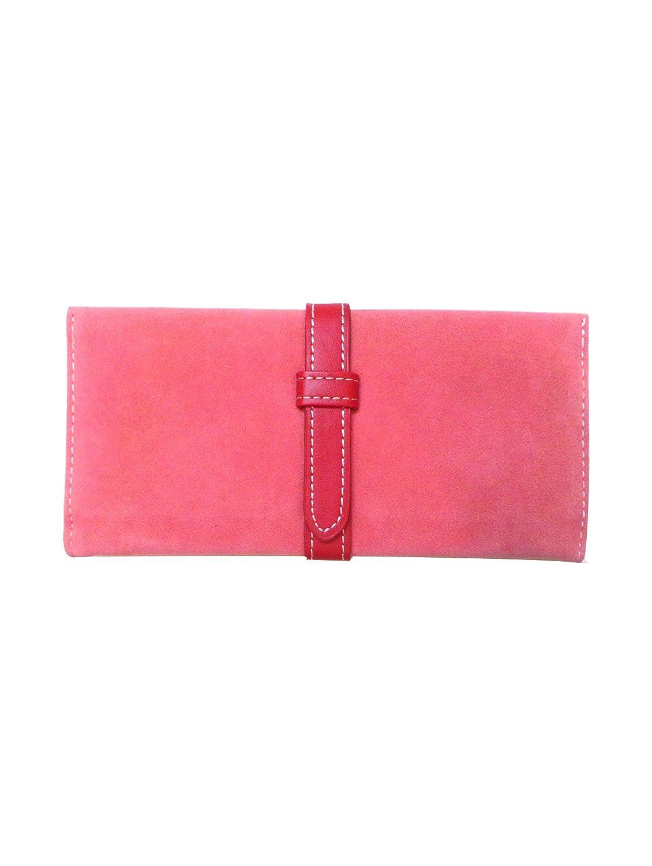 Bhamini Pink Sleek Seude Wallet