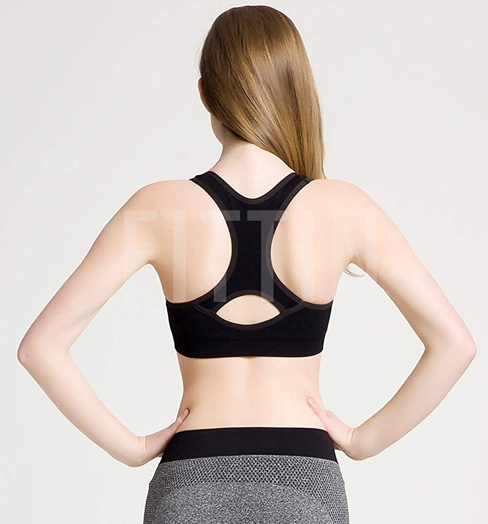 Details about  /Seamless High Impact Support Racerback Sports Bras for Women Padded NEW