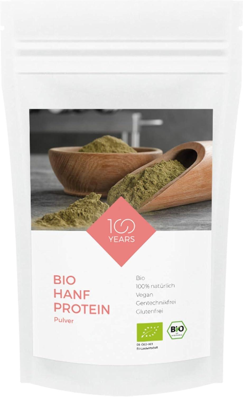 100 years – Proteína de cáñamo orgánica 500 g – 100% de ...