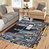 Custom Multicolor Rectangle Area Rug Floor Rug