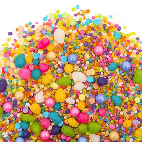 icorn Candyfetti | 8oz Jar | Rainbow Fruity | MADE IN THE USA! | Edible Confetti (8oz Jar) ()