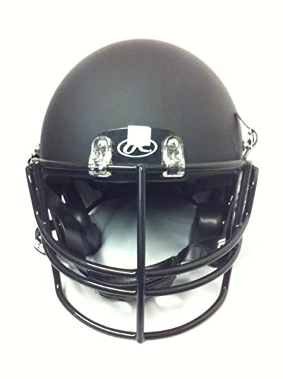 558cf935ad7b Image Unavailable. Image not available for. Color  Rawlings Momentum Plus Youth  Football Helmet Matte Black with Attached Black Face Mask ...
