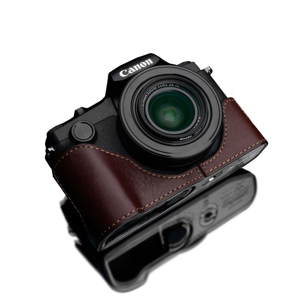 GARIZ Canon PowerShot G1 X Mark III 用 本革カメラケース XS-G1XM3BR ブラウン B079PK84GZ ブラウン
