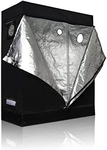 BloomGrow 20 x20 x48 High Reflective Mylar Hydroponic Grow Tent with Waterproof Removable Floor Tray Hydroponic Accessories Grow Tent Kit for Indoor Plant Growing 20 x20 x48 Kit