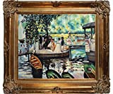 overstockArt Renoir La Grenouillere La obra de arte The Frog Pond with Renaissance Bronze Frame