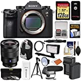 Sony Alpha A9 Wi-Fi 4K Digital Camera Body with 16-35mm f/4 ZA Lens + 128GB + Battery & Charger + Backpack + Filters + LED/Flash + Mic + Tripod + Kit
