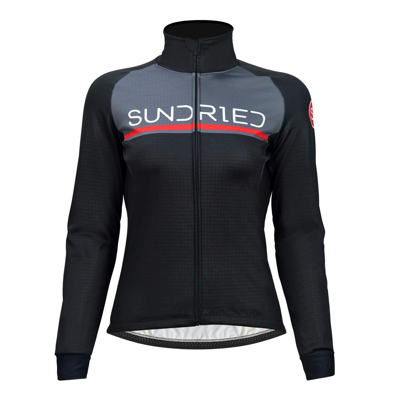 Sundried Frauen Thermal Radjacke windundurchl/ässige Wasserdichte Beste f/ür kaltes Rennrad und Mountainbike