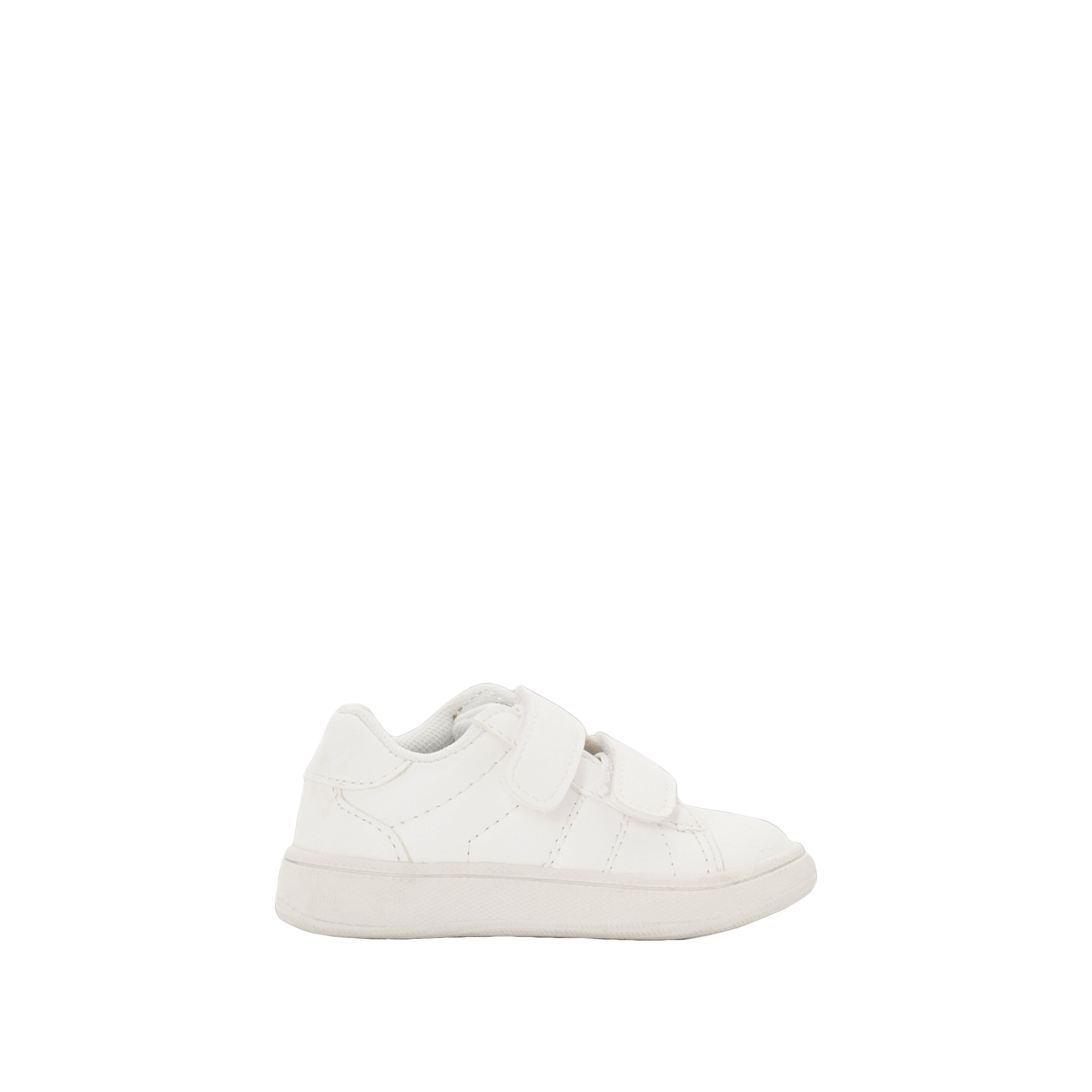 La Redoute Collections Low Top Touch 'N' Close Trainers White Size 19