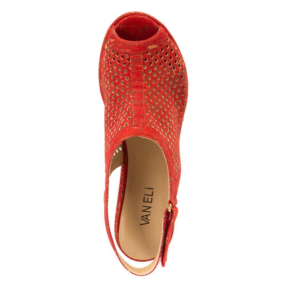 e462b80c0e Amazon.com | VANELi Women's Emmalee Red Leol Cork Sandal | Platforms &  Wedges
