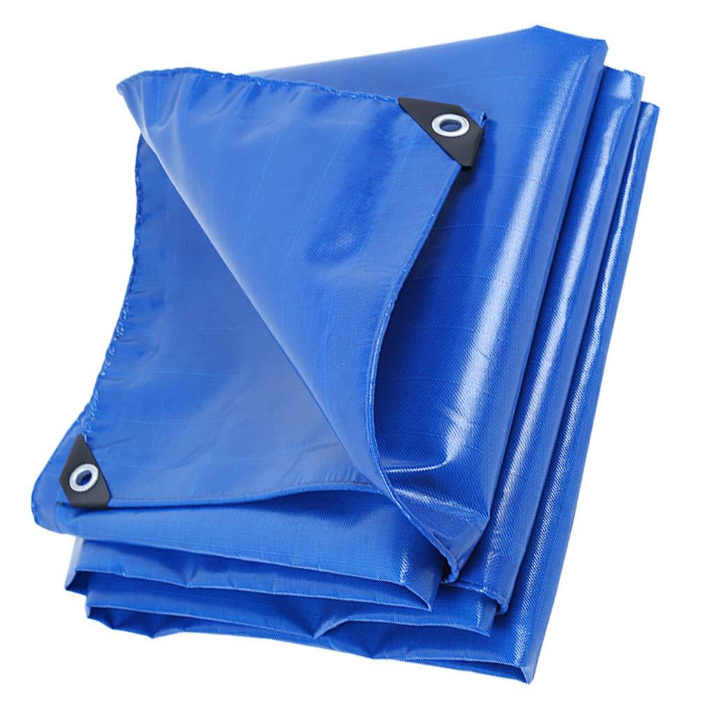 2x4m GRPBZ Camping, pêche, Jardinage et Animal de Compagnie Bleu épais bÂche de Pluie résistant à la bÂche imperméable Robuste Toile bÂche de Camping en Plein air Parasol Tente auvent (Taille   2x3m)