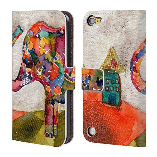 Ufficiale Wyanne Quasi A Casa Elefanti Cover a portafoglio in pelle per iPod Touch 5th Gen / 6th Gen