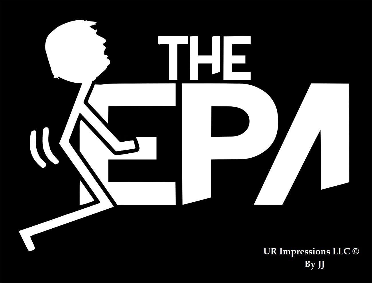 UR Impressions Stick Figure Trump F@ck The EPA Decal Vinyl Sticker Graphics for Cars Trucks SUV Vans Walls Windows Laptop Tablet|White|6.3 X 4.4 inch|JJURI090