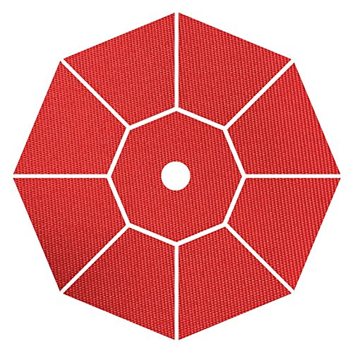 Coral Coast Key Largo 7.5-ft. Spun-Poly Wood Market Umbrella