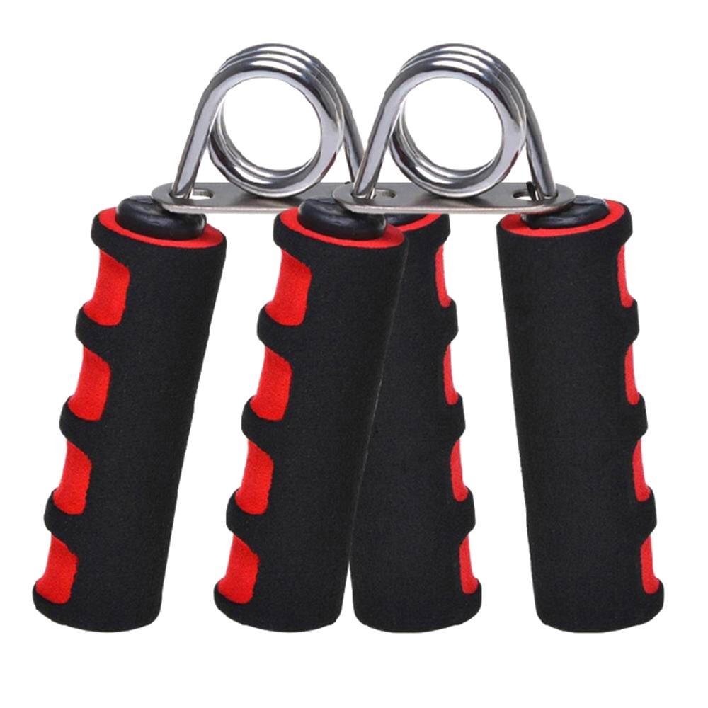 Antideslizante Azul Rojo Espuma asas Hand Grip Fortalecedor fuerza entrenamiento resistencia ejercitador de dedos Gripper par para aumentar la muñeca antebrazo y dedo fuerza, azul JLM
