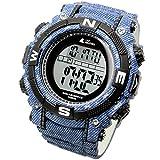 [LAD WEATHER] Powerful solar digital watch Sports Military Lap Split men's watch