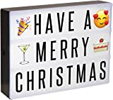 KEPLIN® A4 Enhanced Energy Efficient LED Cinematic Light Up Your Life Letter Box with 120 Characters/Emojis, Storage USB Lead Xmas Party