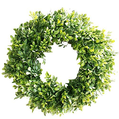 Pauwer Artificial Green Leaves Wreath 18