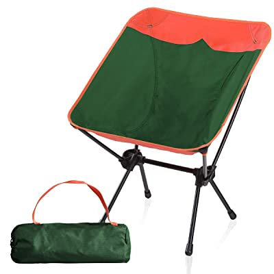 Camping World Portable Compact Ultralight Camping Folding Chairs with Aluminum Frame for Outdoor, Camping, Hiking(Orange/Green) : Sports & Outdoors