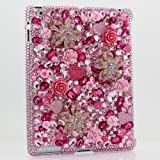 BlingAngels 3D Swarovski Luxury Diamond Crystal Flowers Bling Case Cover for ipad 3 / 4 with retina display (100% Handcrafted by BlingAngels)