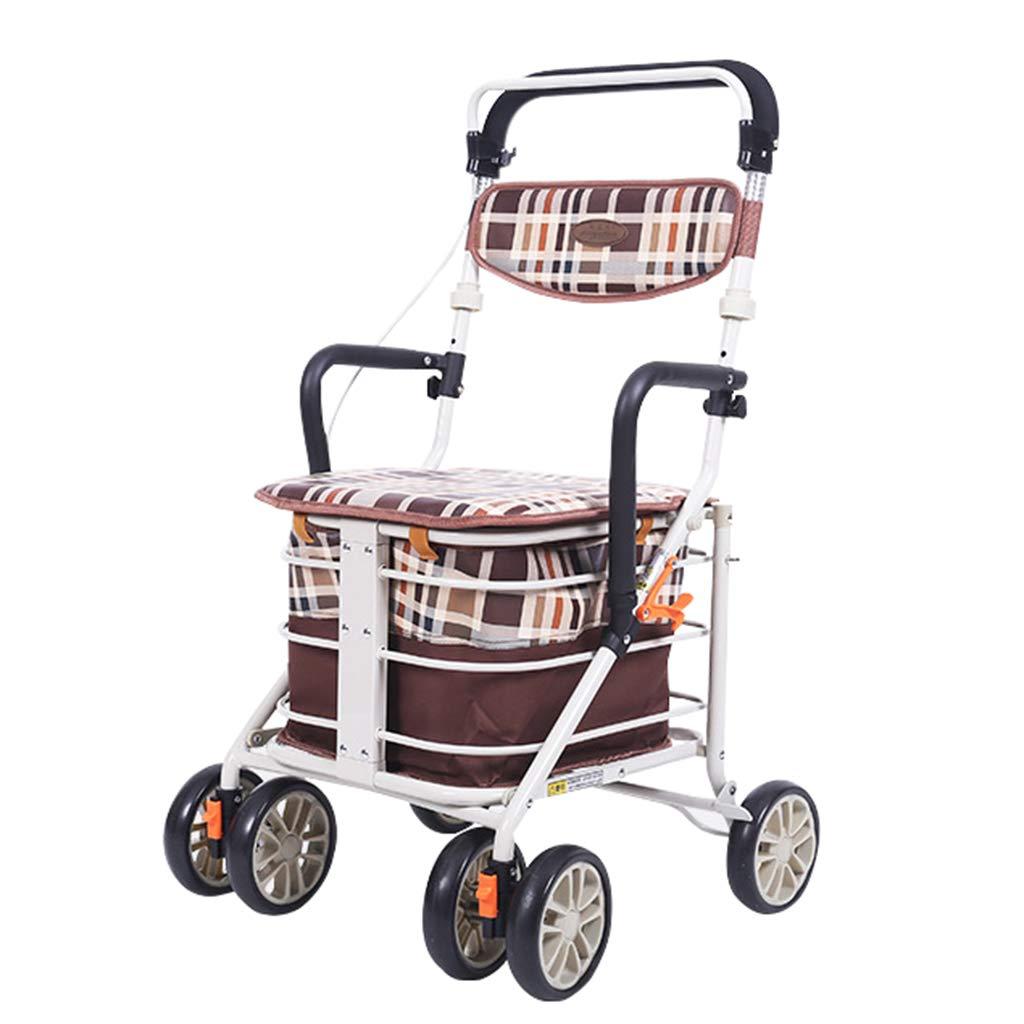 オールドマントロリー、ウォーキングアシッドフォーホイールオールドマンショッピングカート、座ることができる B07MXV4LRV