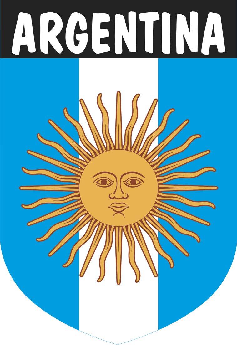 Pegatina Escudo Argentina 40x60 mm.