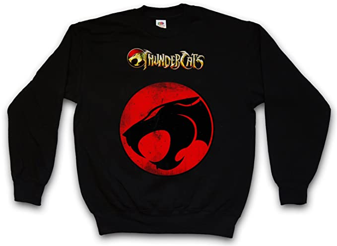 Urban Backwoods Vintage Thundercats Logo Sudadera para Hombre Sweatshirt Pullover - Los felinos Thundera TV Series cósmicos Comic Cartoon Kult Retro Shirt ...