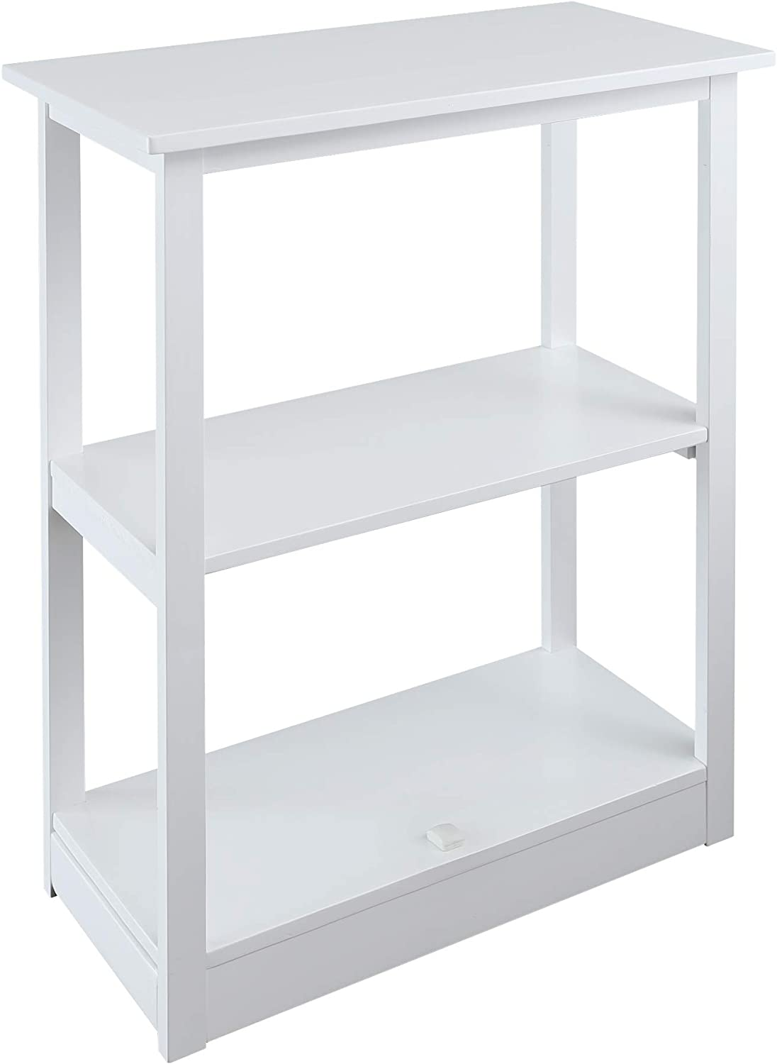 Casual Home Adams Bookcase Sliding Track, Concealment Furniture, White