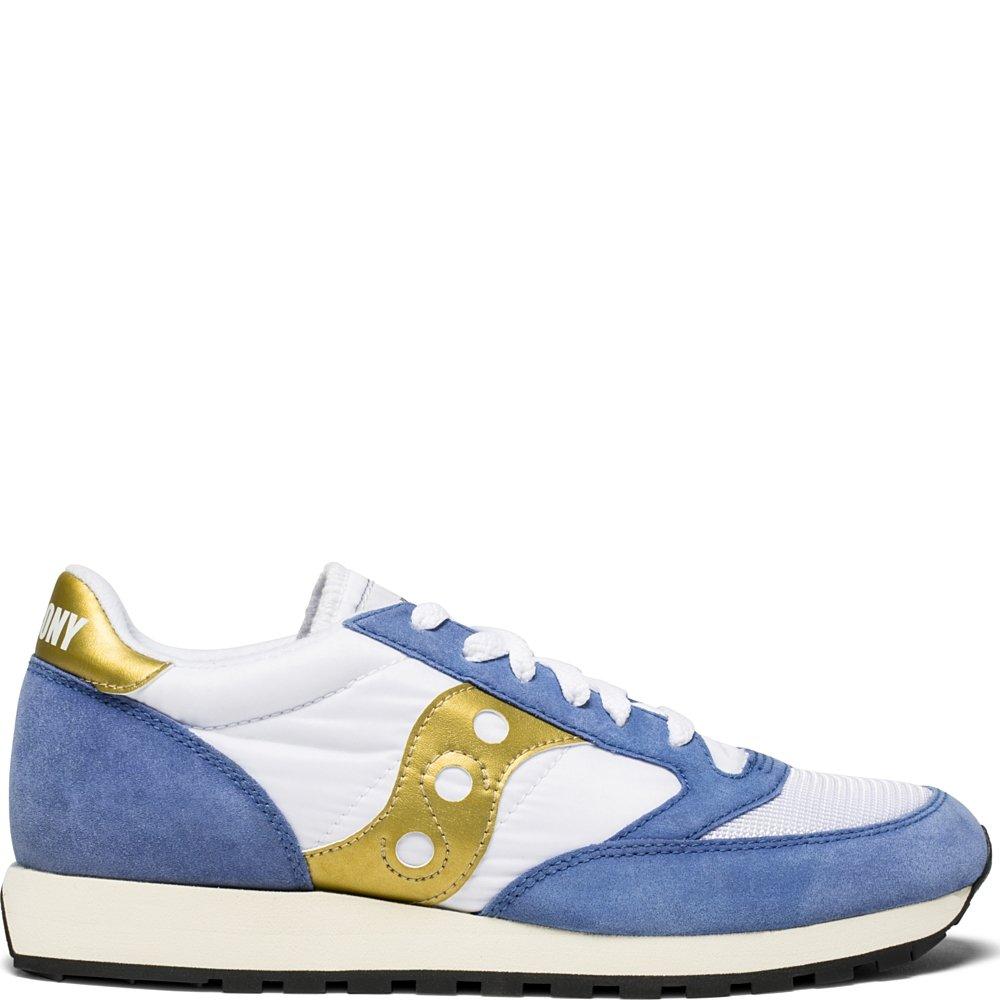 MultiCouleure (Wht bleu Gld 12) 44.5 EU Saucony Jazz O Vintage, Chaussures de Cross Homme
