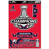 Official Capitals 2018 Stanley Cup Champions 11'' x 17'' Multi-Use Decal Sheet