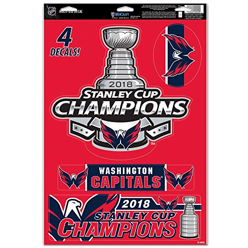 Official Capitals 2018 Stanley Cup Champions 11'' x 17'' Multi-Use Decal Sheet by Official