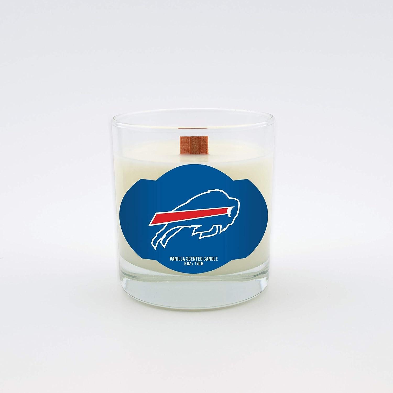 Worthy Promotional NFL Buffalo Bills Vanilla Scented 6 oz Soy Wax Candle Wood Wick