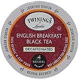 Twinings English Breakfast Decaf Tea 48-Count K-Cups for Keurig Brewers