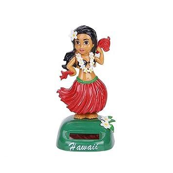 4392f78523898 Springdoit Decoración del Coche Solar Belleza Hierba Falda Swing Piece  Animado Muñeca Dancer Toy Gift Suministros de Oficina Decoración del  Interior del ...