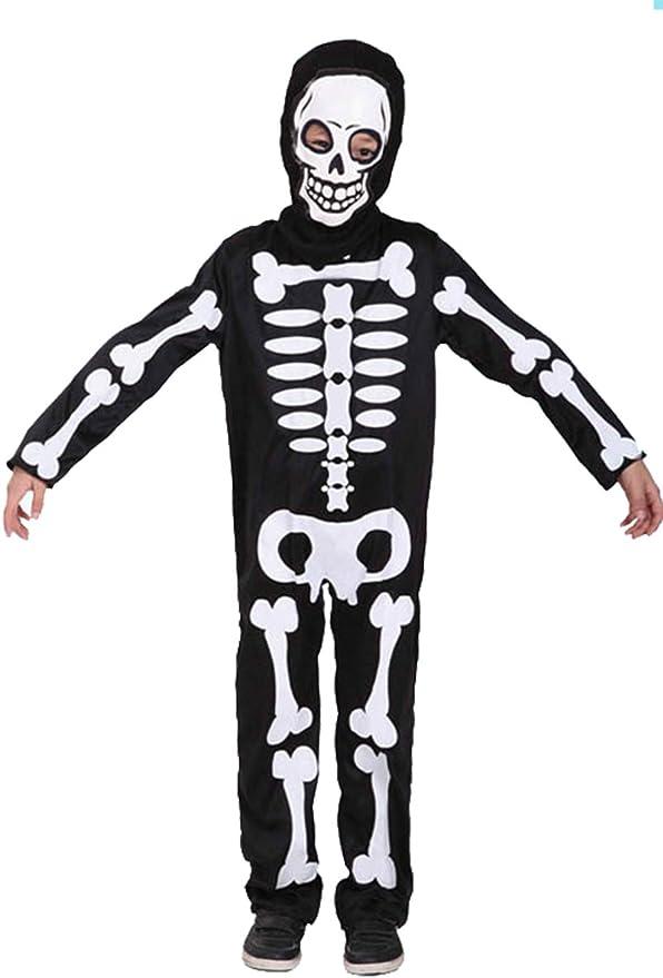 Disfraz de calavera de Halloween para niños Mono esqueleto, traje ...