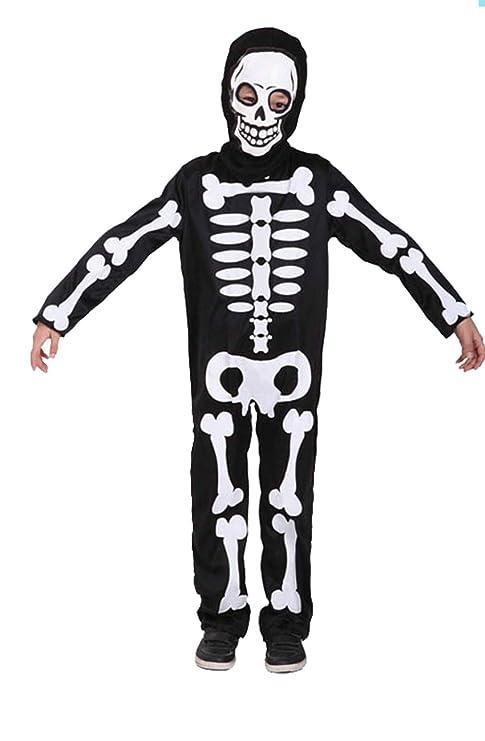 Disfraz de calavera de Halloween para niños Mono esqueleto ...
