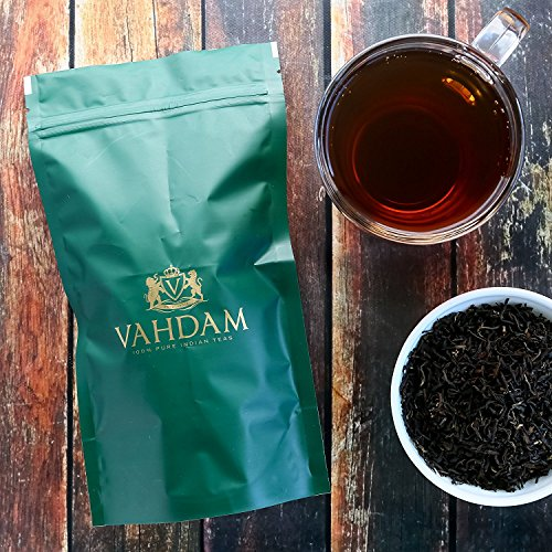 Organic Black Loose Leaf Darjeeling Tea, 2017 Prime Second Flush Tea with Powerful Antioxidants; Brews the Perfect Probiotic Kombucha- No Fillers and Gluten Free- Makes 50 Cups (3.53 ounces)