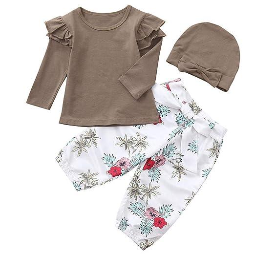 c8d4812fe6c3 Amazon.com  Lisin Toddler Infant Baby Girls Outfits Set