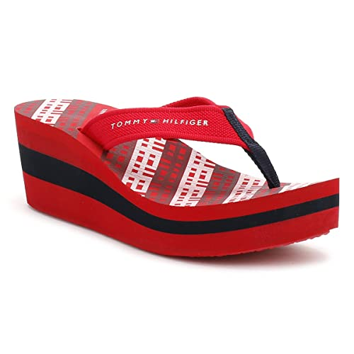 e27d69ddcce4 Tommy Hilfiger Womens Tango Red Wedge Flip Flop-UK 6.5  Amazon.co.uk  Shoes    Bags