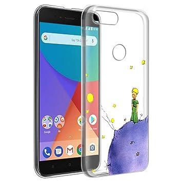 YOEDGE Funda Xiaomi Mi A1 Ultra Slim Cárcasa Silicona Transparente con Dibujos Animados Diseño Patrón [El Principito] Resistente Bumper Case Cover ...