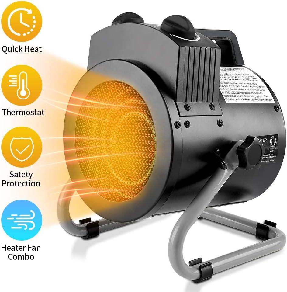 1500W Portable Electric Space Heater Fan Warmer Desktop Home Office Air Heater