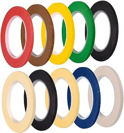 6 Colori 6 Pezzi 3 mm Larghezza Nastro Grafico Nastri Decorativi Nastro Arte Nastro Lavagna Nastro Gridding Nastro Adesivo