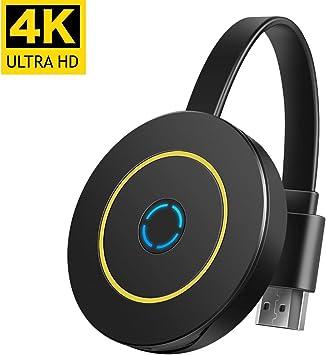 Mini receptor inalámbrico 4K WiFi de pantalla 4K para compartir vídeo HD desde proyectores, teléfonos celulares,